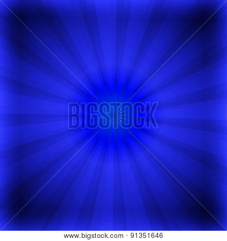 Dark blue ray background with lens design template