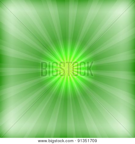 Green background with lens flare design template