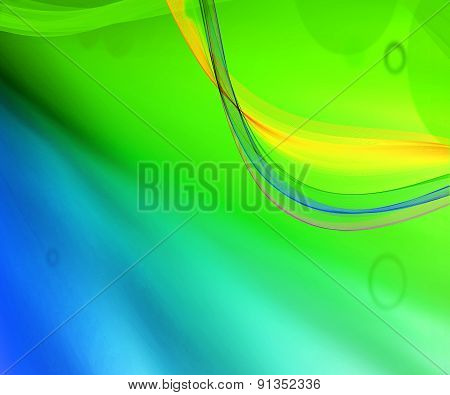 Blue and green background design illustration template