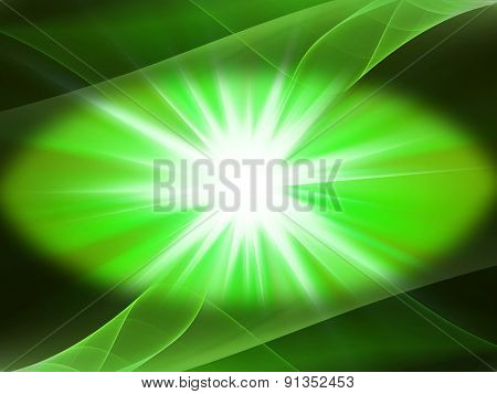 Lighting green energy background burst generated image