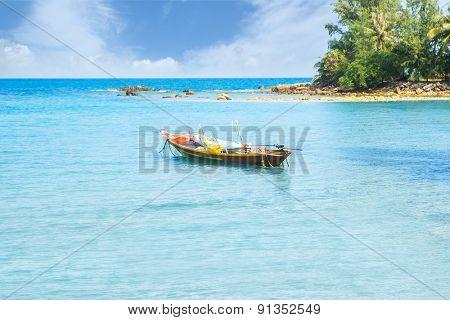 Fisherman boat in the sea