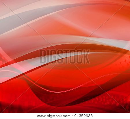 Wave red abstract background