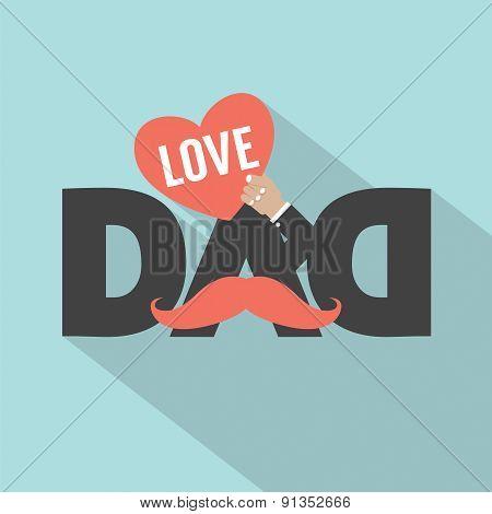 Love Dad Typography Design.