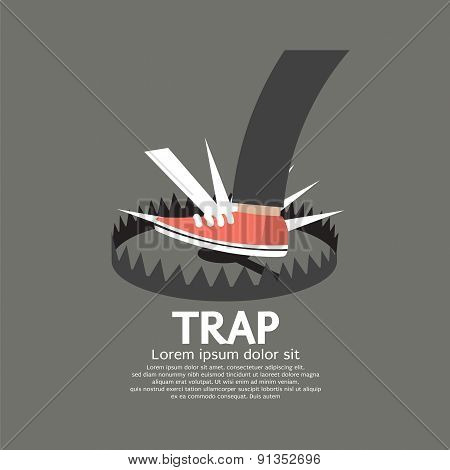 Foot Stepped On Trap.