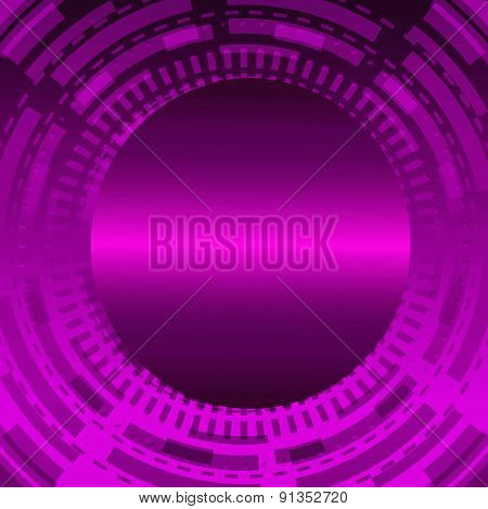 Abstract Techno Circle purple background