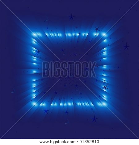 Blue star Light effects on dark background