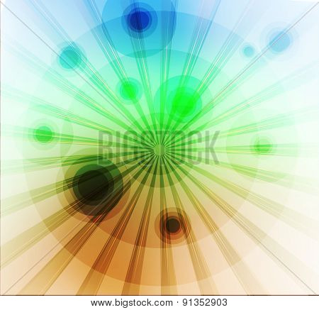 Green blue rays burst light background