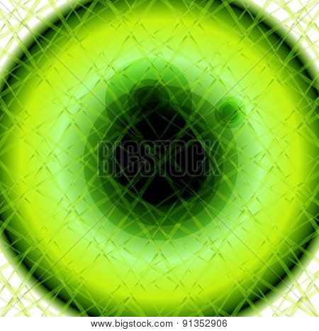 Green Circles Abstract white background texture