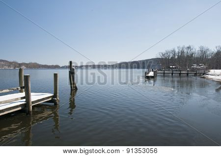 Empty Docks In Winter