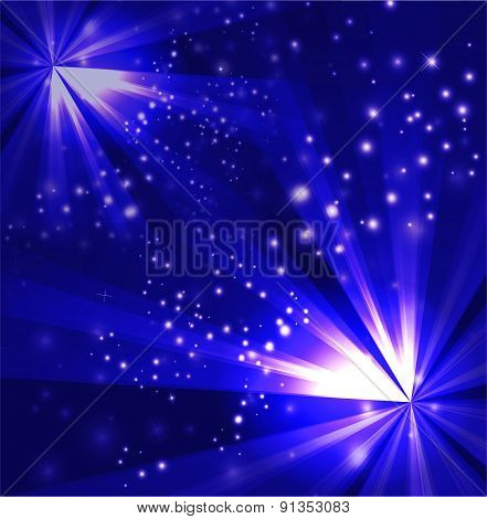 Two burst light blue Background