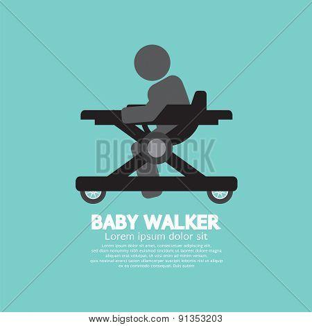 Black  Symbol Baby Walker.