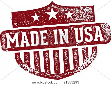 Vintage Made in USA Rubber Stamp