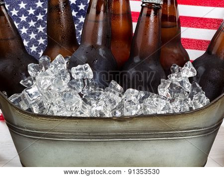 Beer Ready To Drink For The Fourth Of July Holiday