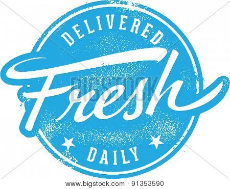 Delivered Fresh Daily Menu  Rubber Stamp