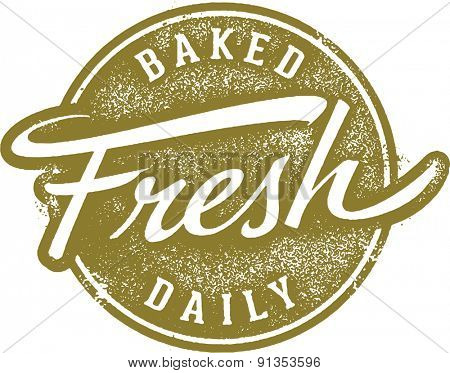 Baked Fresh Daily Menu Stamp
