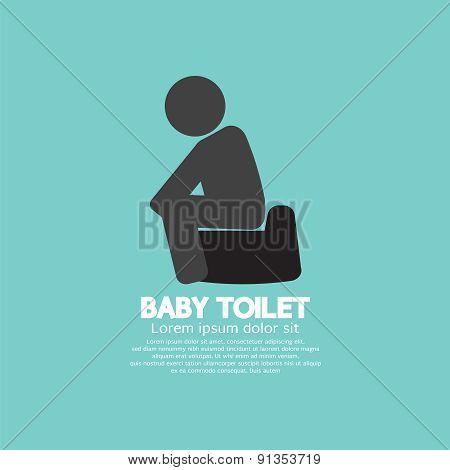 Black Symbol Baby Toilet.