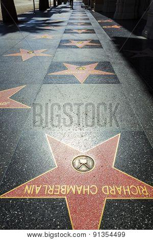 Richard Chamberlains Star On Hollywood Walk Of Fame