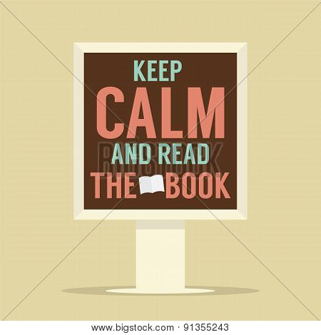 Keep Calm And Read The Book Stand Poster.