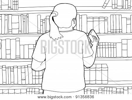 Outline Of Librarian Shelving Book
