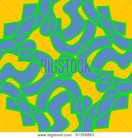 Blue And Green Kaleidoscope Pattern