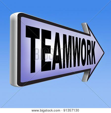teamwork coorporation working together team work