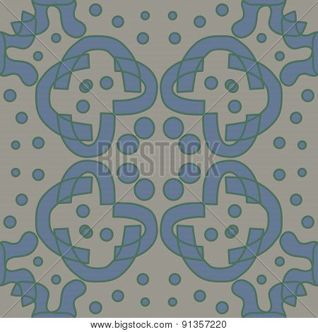 Blue And Gray Symmetry Pattern