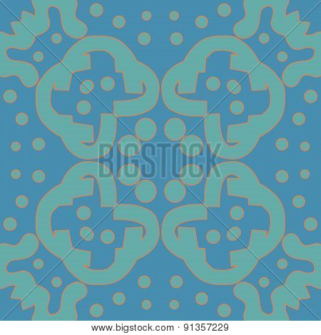 Blue And Orange Symmetry Pattern