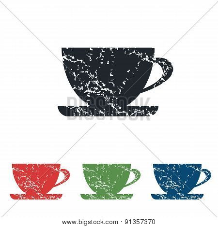 Cup grunge icon set