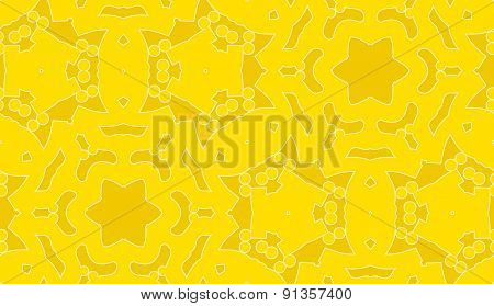 Seamless Yellow Star Outlines