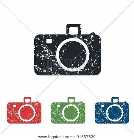 Camera grunge icon set