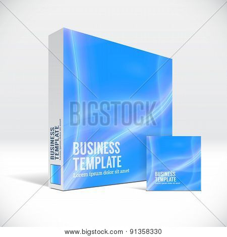 3D Identity box with abstract blue lines cover
