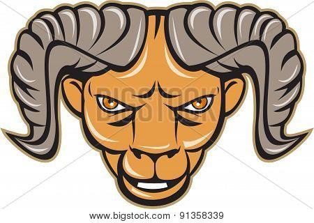 Ram Head Isolated Cartoon