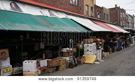 South 9th Street Italian Market in Philadelphia