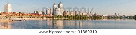 Buildings close to the Dnieper river