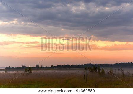 Morning on the lake Piros.