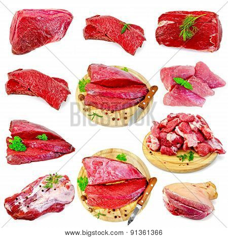 Meat beef and pork set