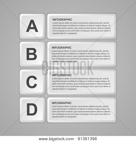 Abstract Keyboard Buttons Infographic. Design Element. Vector Illustration.