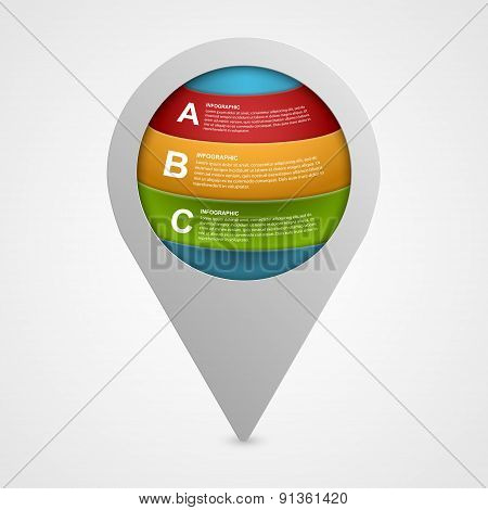 Abstract Modern Infographics Design Elements. Vector Illustration.