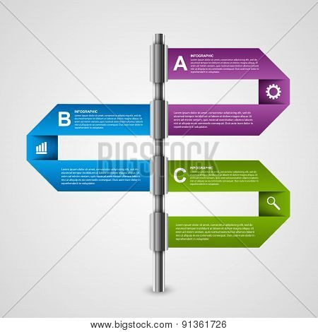 Abstract paper sticker, banners, options infographic template. Design element.