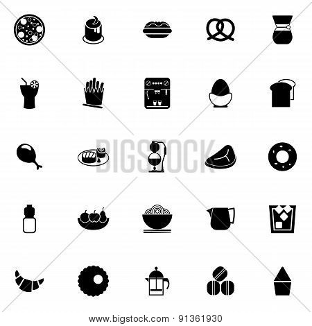 Easy Meal Icons On White Background