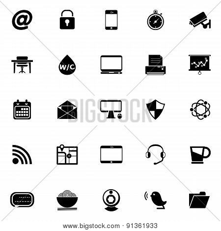 Internet Cafe Icons On White Background