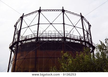 Rusty Gas Storage Tank