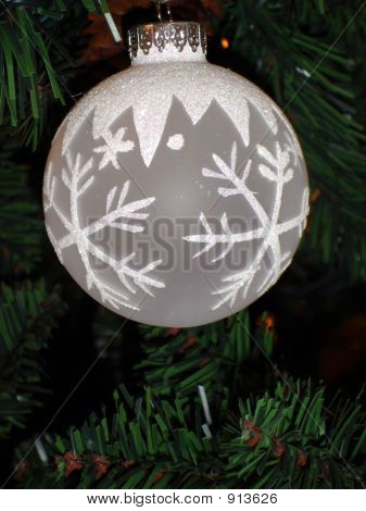 Silver Snowflake Sparkle Christmas Ornament