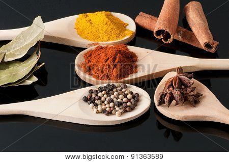 Variety Of Spices And Aromatic Herbs
