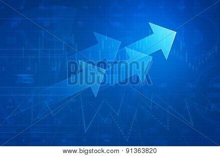 Arrow On Financial Graph, Success Business Concept