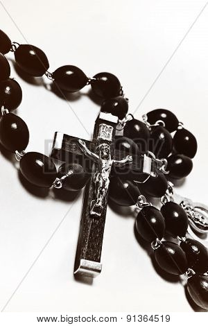 Catholic Rosary With Crucifix