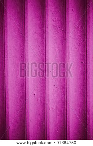 Wooden Walls Painted With Magenta Paint