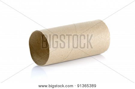 Tissue Core Isolated On The White Background