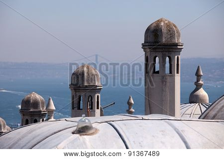 Bosphorus and Suleymaniye Mosque, Istanbul