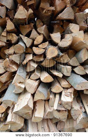 Closeup Of Logs